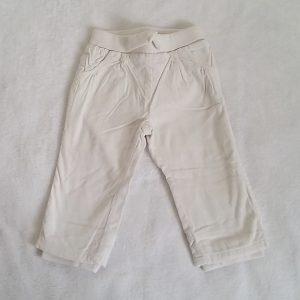 Pantalon velours écru doublé bébé fille 18 MOIS
