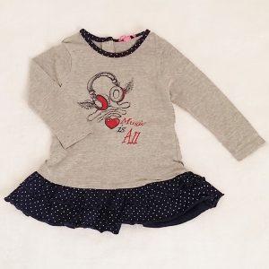 Robe grise à volants bébé fille 18 MOIS