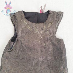 Robe de fête noire et dorée bébé fille 18 MOIS ORCHESTRA