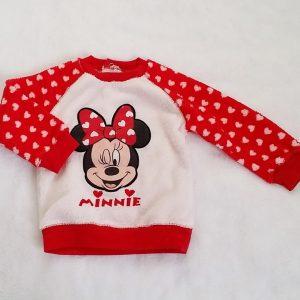 Sweat polaire Minnie rouge blanc bébé fille 18 MOIS DISNEY