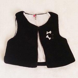 Gilet sans manches polaire noir bébé fille 18 MOIS ORCHESTRA