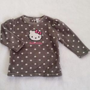 Sweat polaire gris bébé fille 18 MOIS HELLO KITTY