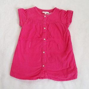 Robe manches courtes velours rose bébé fille 18 MOIS