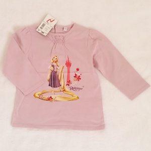 T-shirt mauve Raiponce fleurs bébé fille 18 MOIS DISNEY