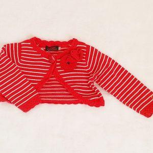 Gilet court rayé rouge blanc bébé fille 18 MOIS CATIMINI