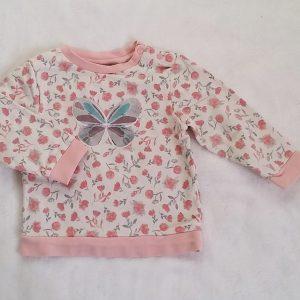 Sweat blanc rose bébé fille 18 MOIS ORCHESTRA