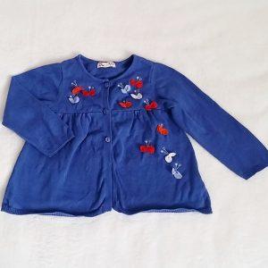 Gilet bleu bébé fille 18 MOIS DPAM