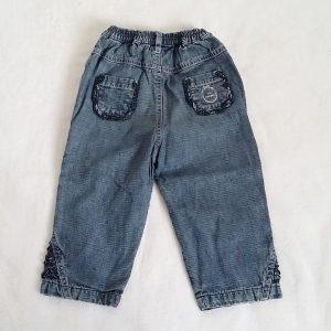 Pantalon jean bleu doublé JACADI bébé fille 18 MOIS