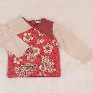 T-shirt fantaisie rose prune bébé fille 18 MOIS OBAIBI