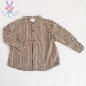 Chemise rayée kaki bébé garçon 18 MOIS OBAIBI