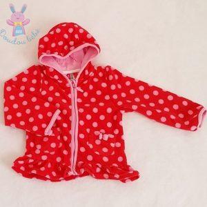 Gilet rouge à pois bébé fille 24 MOIS ORCHESTRA
