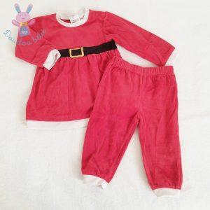 Ensemble tenue robe de Noël rouge blanc fille 2 ANS H&M