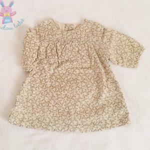 Robe coton beige fantaisie bébé fille 3 MOIS