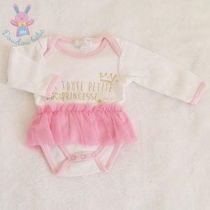 Body princesse tulle rose bébé fille 3 MOIS