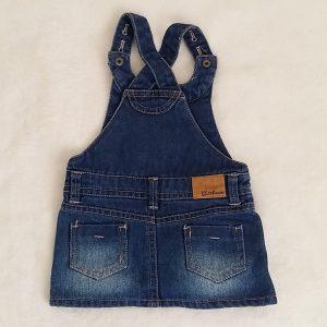 Robe jean bleu délavé à bretelles bébé fille 3 MOIS