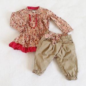 Ensemble pantalon et liquette bébé fille 3 MOIS TAPE A L'OEIL TAO