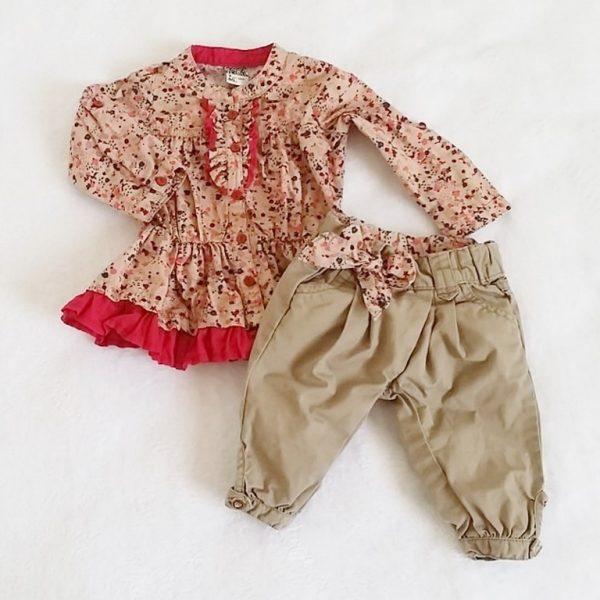 Ensemble pantalon et liquette bébé fille 3 mois TAPE A L'OEIL