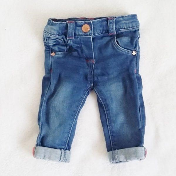 Pantalon jean bleu bébé fille 3 mois TAPE A L'OEIL