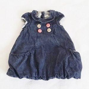 Robe boule jean bleu bébé fille 3 MOIS TAPE A L'OEIL TAO