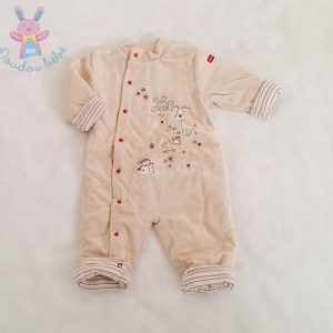 Combinaison beige molletonnée bébé garçon 3 MOIS