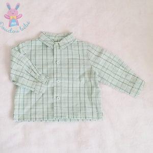 Chemise à carreaux verte bébé garçon 3 MOIS LA REDOUTE