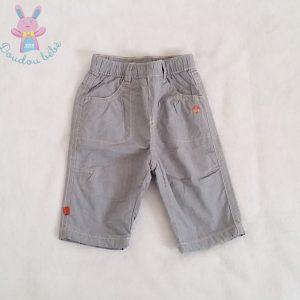 Pantalon doublé rayé bleu bébé garçon 3 MOIS OBAIBI