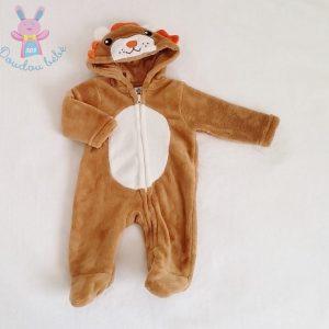 Combinaison Lion polaire marron bébé garçon 3 MOIS