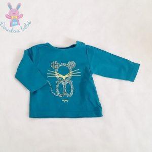 T-shirt turquoise bébé 3 MOIS OBAIBI