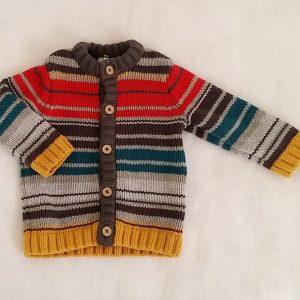 Gilet mailles rayé coloré bébé garçon 3 MOIS ORCHESTRA