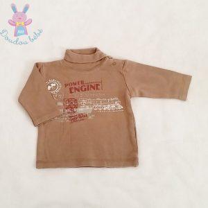 Sous-pull marron fantaisie bébé garçon 3 MOIS