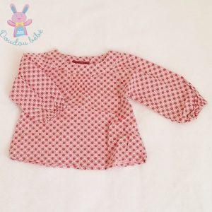 Ensemble Pantalon marron + haut rose fantaisie bébé fille 6 MOIS