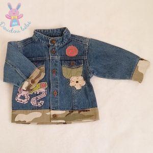 Blouson jean bleu et armé bébé fille 6 MOIS
