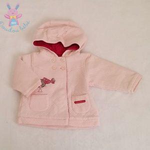 Blouson à capuche molletonné rose bébé fille 6 MOIS MARESE