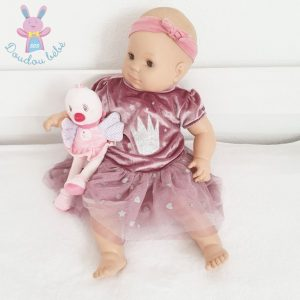 Robe velours rose argenté tulle bébé fille 6 MOIS ORCHESTRA