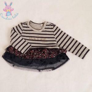 T-shirt rayé à volants bébé fille 6 MOIS IKKS