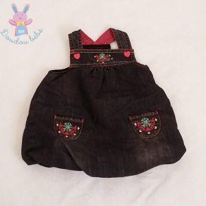 Robe jean noir forme boule bébé fille 6 MOIS ORCHESTRA