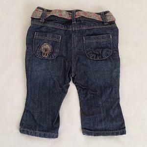 Pantalon jean bleu avec ceinture bébé fille 6 MOIS OBAIBI