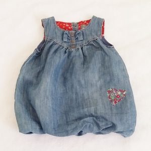 Robe boule en jean bleu bébé fille 6 MOIS ORCHESTRA