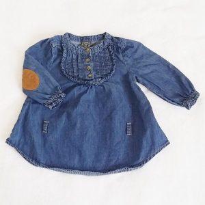 Blouse en jean bleu bébé fille 6 MOIS TAPE A L'ŒIL TAO