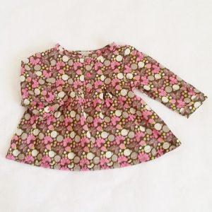 Blouse motif fleurs rose gris bébé fille 6 MOIS ORCHESTRA