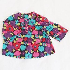 Blouse fleurs colorées bébé fille 6 MOIS ORCHESTRA