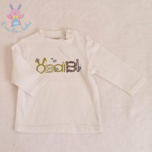 T-shirt blanc bébé garçon 6 MOIS OBAIBI