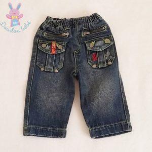 Pantalon jean bleu poches bébé garçon 6 MOIS ORCHESTRA