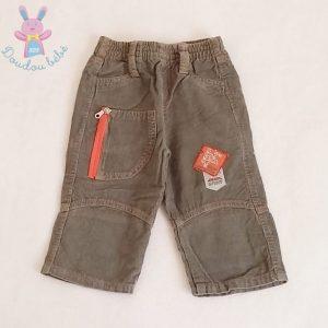 Pantalon velours gris bébé garçon 6 MOIS