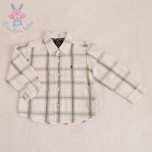 Chemise carreaux blanc vert bébé garçon 6-9 MOIS ZARA