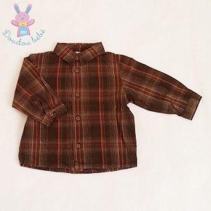 Chemise marron rouge bébé garçon 6 MOIS