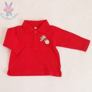 Polo rouge super héros bébé garçon 6 MOIS