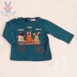 Ensemble salopette marron + T-shirt bébé garçon 6 MOIS DPAM