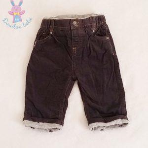Pantalon velours gris bébé garçon 6 MOIS CADET ROUSSELLE