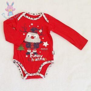 Body rouge fantaisie Noël bébé 9 MOIS